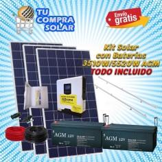 Kit solar con baterías AGM...