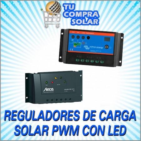 Reguladores de carga solar PWM con Led
