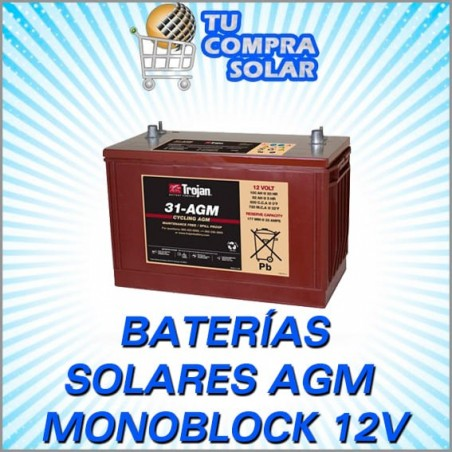 Baterías solares monoblock AGM 12V