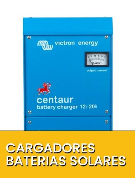 Cargadores baterías solares