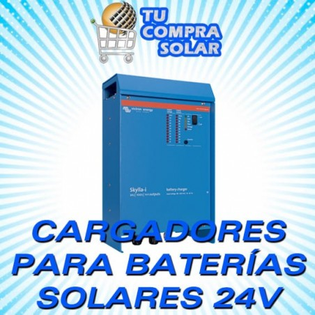 Cargadores baterías solares 24V